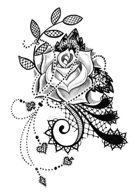 big rose tattoo designs best 25 lace sleeve tattoos ideas only on