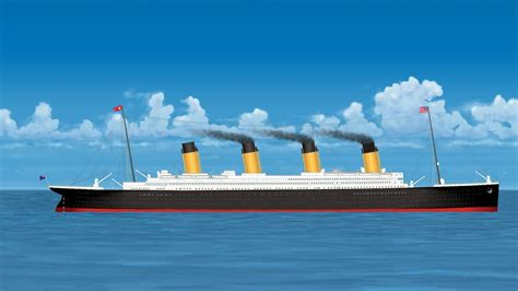 titanic boat in water the sinking of the titanic youtube