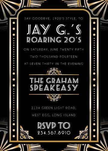 1920s invitation template free the new 1920 s deco invitations great for a
