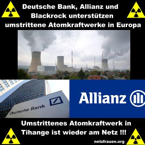 deutsche bank belgien tihange deutsche bank allianz und blackrock