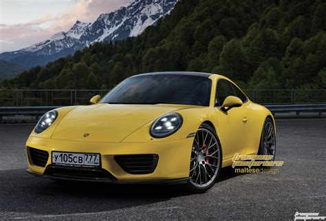 2019 new porsche 911 2019 porsche 911 imagined with modern design carscoops