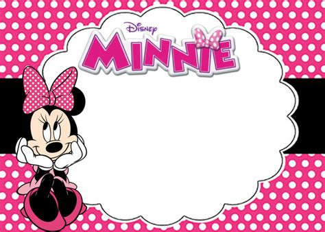 Free Minnie Mouse Birthday Card Template by Free Printable Minnie Mouse Birthday Invitation Card