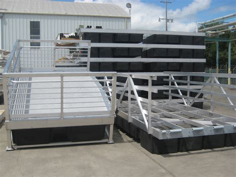 pier sections aluminum dock sections mid cal construction