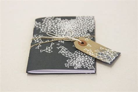 notebook pocket pattern pocket size paper notebook with hand drawn pattern
