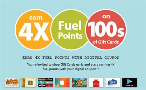 Kroger Gift Cards 4x Fuel Points - kroger fuel points promotion 4x points on gift card purchases