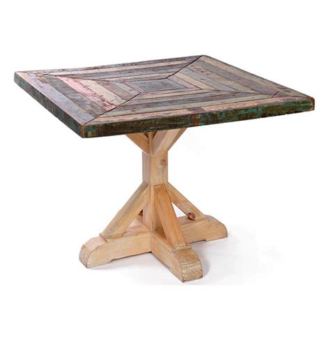 reclaimed wood square dining table reclaimed painted rustic wood square dining table 38 quot d