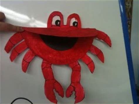 Crab Paper Plate Craft - paper plate crab craft crafts and worksheets for