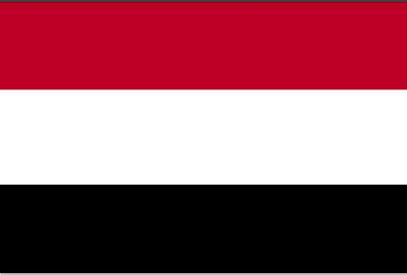 flags of the world red white black yemen operation world