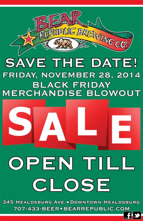 black friday date save the date black friday merchandise sale 11 28 bear