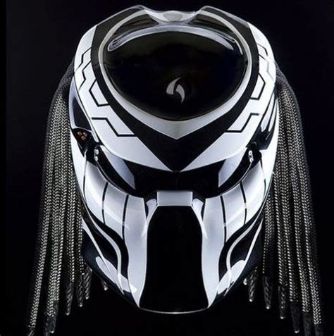 Helm Nhk Hurricane custom predator motorcycle dot approved helmet black and white color black colors and
