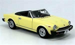 Fiat 1980 Models Fiat 124 Spider Cs Amer Version 1980 Autoart Diecast