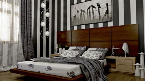 striped bedroom walls 20 bedroom ideas with striped walls home design lover
