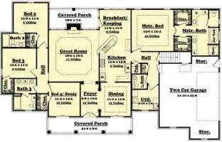 Bedroom Floor Plans by 4 Bedroom House Design