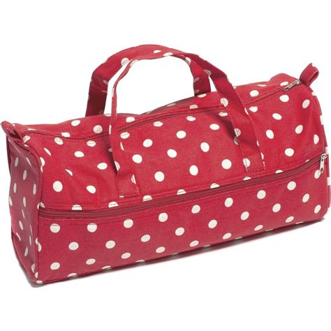 knit bags knitting bag polka dot 15 x 42 x 17 5 cm hobbycraft