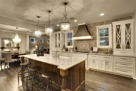 Cottage Kitchen Lighting Fixtures - 34 luxurious kitchens with island sinks
