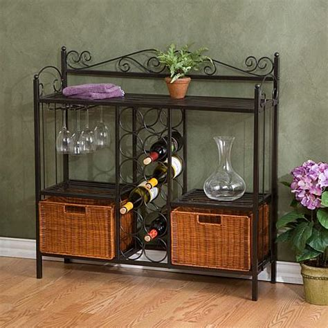 Bakers Rack With Wine Storage by Celtic Baker S Rack With Wine Storage 6408623 Hsn