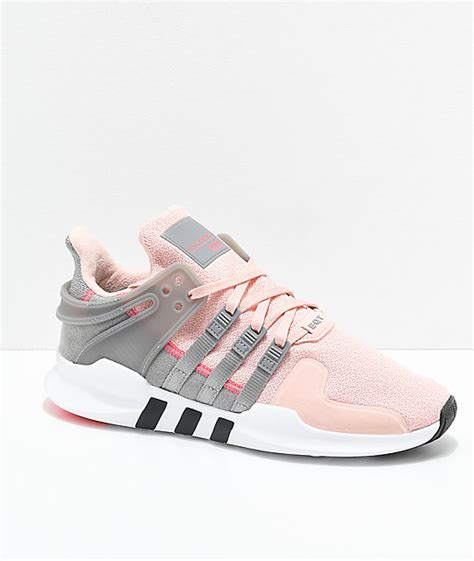 adidas eqt support adv pink grey shoes zumiez