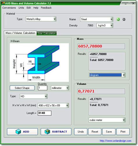 calculator volume lucky portable april 2011
