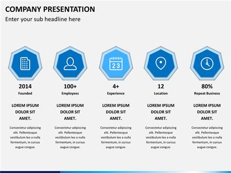 company profile presentation powerpoint template