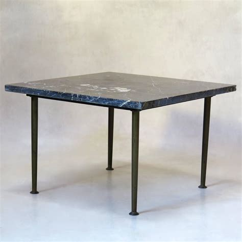 Small Square Coffee Table Small Square Bronze And Black Marble Coffee Table Circa 1950s For Sale At 1stdibs