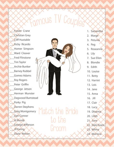 printable games for married couples bridal shower game wedding shower game couples shower game