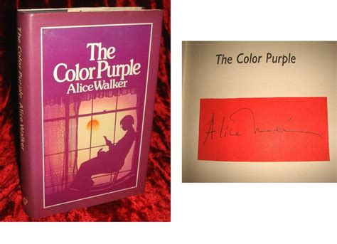 the color purple book bibliography color purple by walker signed abebooks