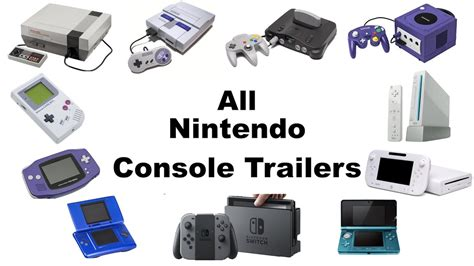 nintendo gaming console all nintendo console trailers 1985 2017