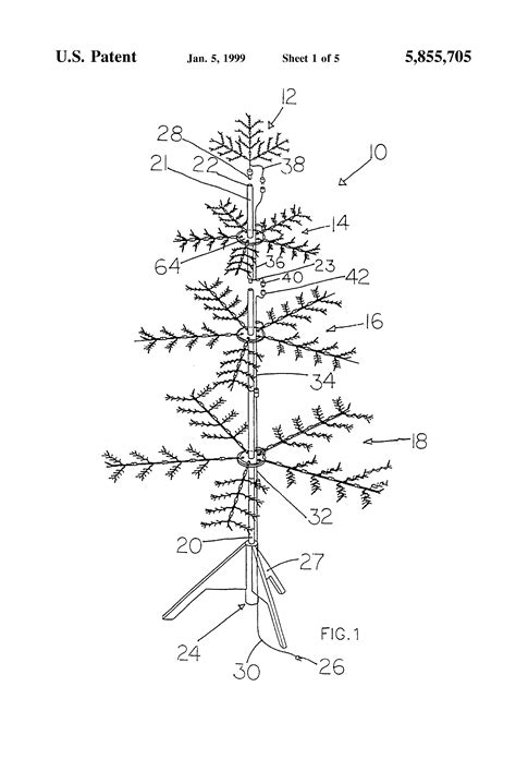 patent us5855705 artificial christmas tree google patents