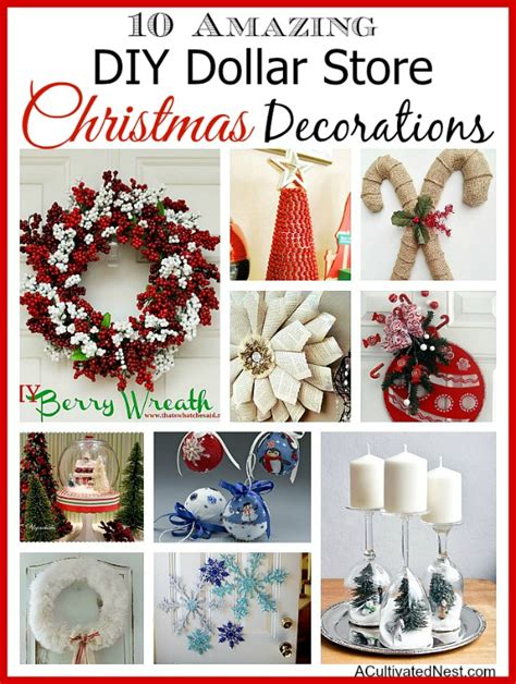 10 diy dollar store holiday decorations decoration
