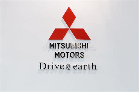 mitsubishi motors stock symbol mitsubishi motors logo editorial stock photo image of