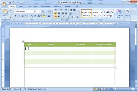 cara membuat nomor invoice otomatis cara membuat nomor otomatis pada tabel di ms word