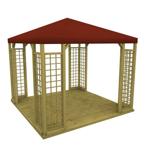 Pavillon Holz 3x3 by Gartenpavillon Holz Mit Stoffdach Denvirdev Info