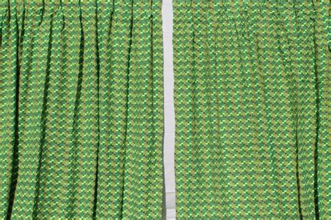 60s vintage nubby tweed drapes, heavy fabric panels retro