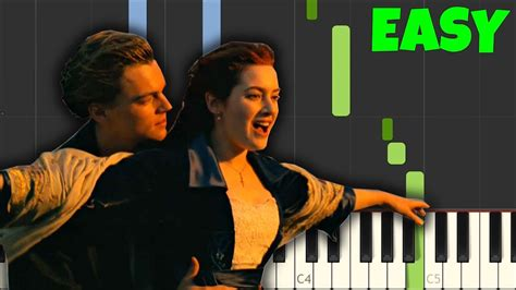 tutorial piano titanic easy my heart will go on titanic celine dion easy piano