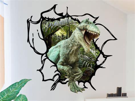 dinosaur wall decal tyrannosaurus rex tearing through the