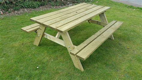 picnic table with separate benches picnic table plans with separate benches image collections