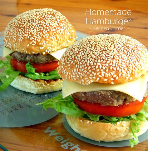 Handmade Hamburger Patties - kitchen corner hamburger
