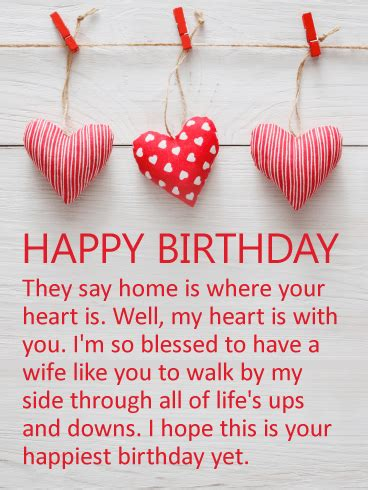 Happy Birthday To My Card My Heart Is With You Happy Birthday Card For Wife