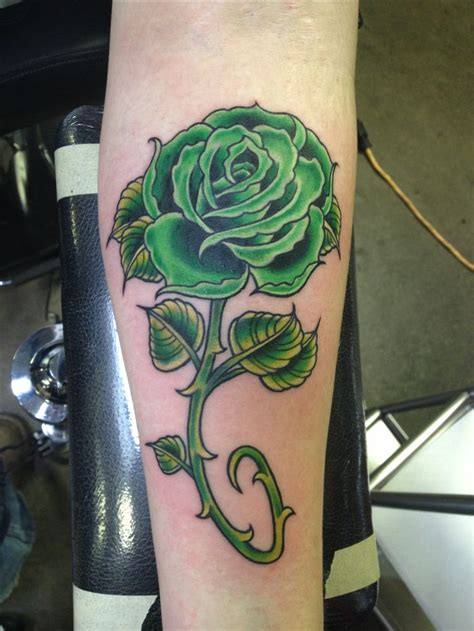green rose tattoos my green
