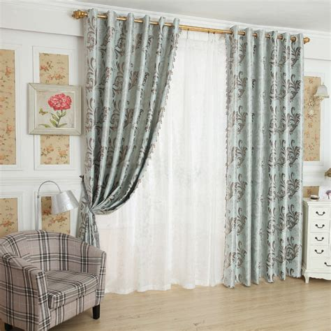 Pale Green Curtains With Fine Patterns Are Elegant
