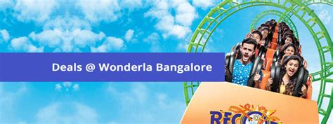theme park vouchers wonderla bangalore offers coupons group discount