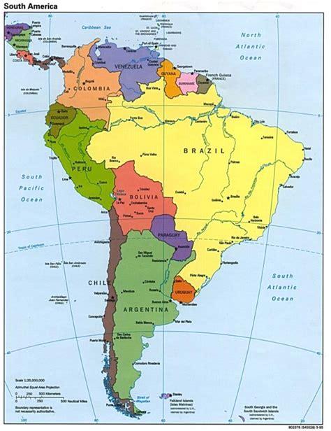 mapa topografico america sur mapa pol 237 tico de am 233 rica pa 237 ses de am 233 rica norte y