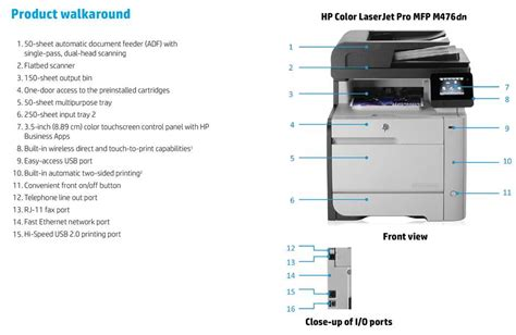 hp color laserjet pro mfp m476dn hp color laserjet pro mfp m476dn all in one printer