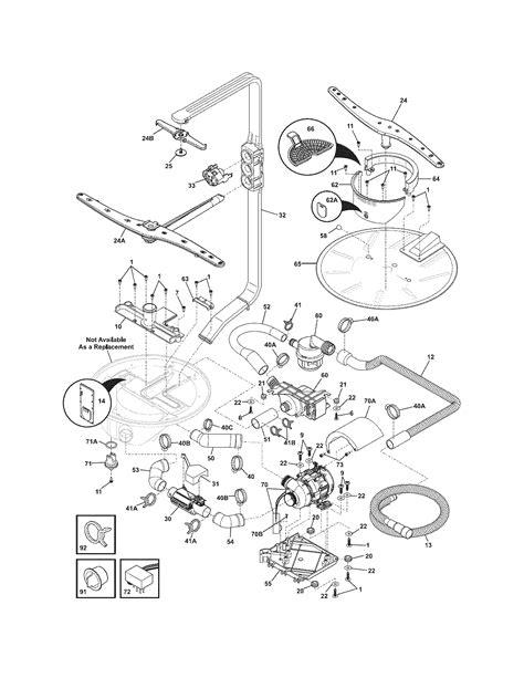 electrolux dishwasher parts diagram electrolux dishwasher eidw6105gs1 just installed used 6