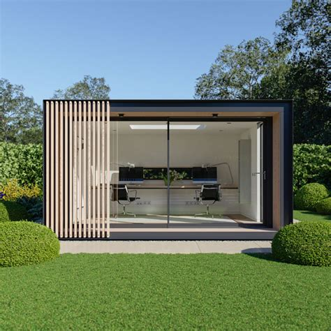 build backyard office uk garden pods outdoor office building designed by pod space