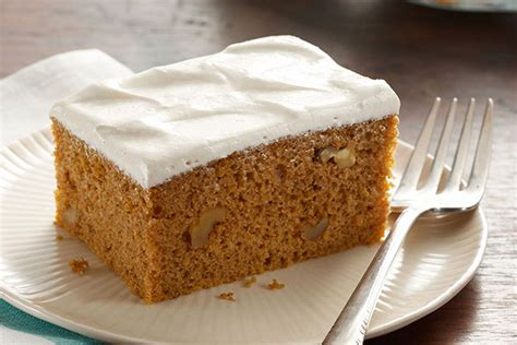 pumpkin spice cake with brown sugar frosting kraft recipes