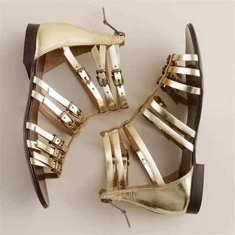 j crew gold sandals j crew gladiator sandals in gold metallic