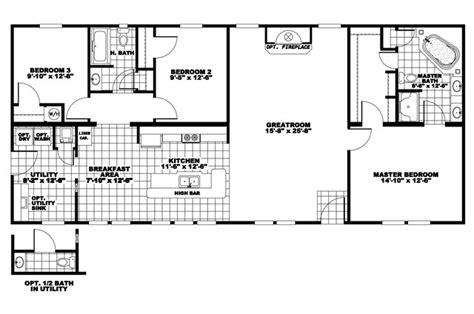 manufactured home floor plan clayton norris c series