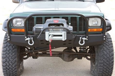 jeep bumper grill rock 4x4 bolt on front bumper brush grille guard for