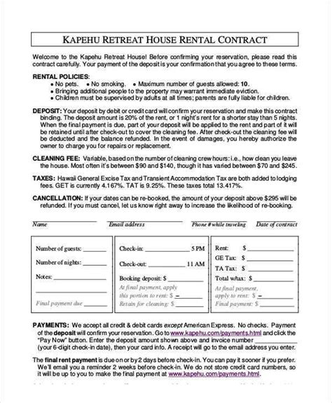 house rent contracts 4 house rent contract sles templates pdf doc
